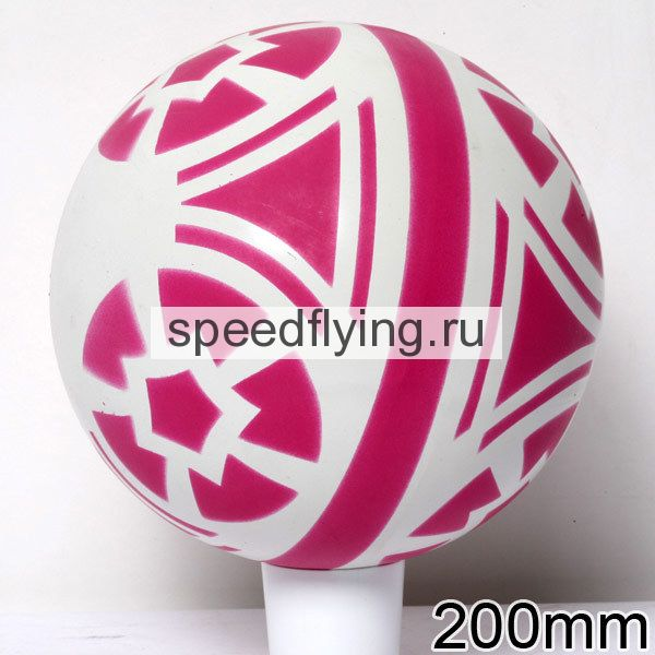 мяч 200мм лакир. в уп.8шт